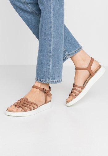 ECCO CORKSPHERE SANDAL - Sandals - mahogany