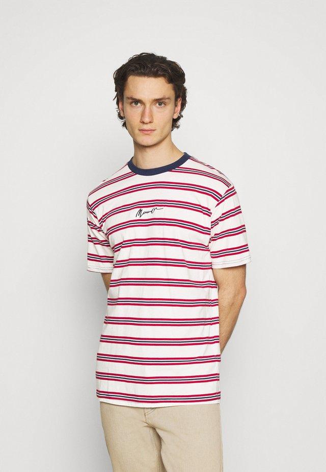 CLASSIC HORIZONTAL STRIPE UNISEX - T-shirt imprimé - white/red