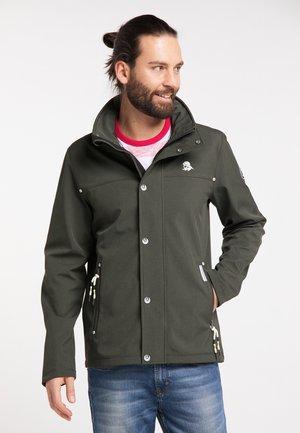 Outdoor jacket - dark olive melange