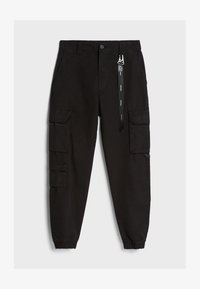 Bershka - Cargobroek - black - 4