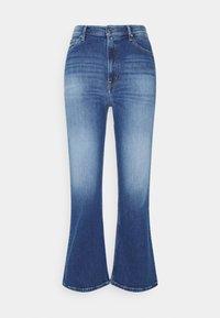 HARPER FLARE ANKLE - Straight leg jeans - dark-blue denim