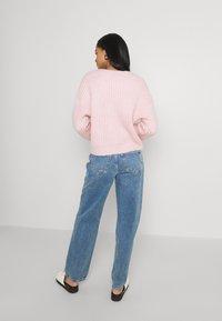 YAS - YASSUDANA CARDIGAN - Cardigan - chalk pink melange - 3