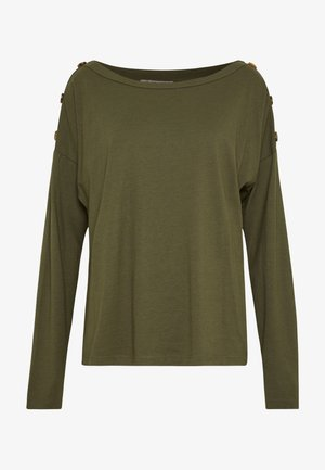 DROP SHOULDER LONG SLEEVES - Bluzka z długim rękawem - olive night