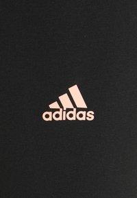 adidas Performance - LOUNGEWEAR ESSENTIALS HIGH-WAISTED LOGO LEGGINGS - Tights - black/ambient blush - 7