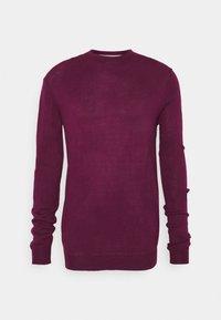 Newport Bay Sailing Club - CREW - Stickad tröja - burgundy - 4