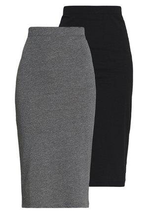 NMANJA SKIRT 2 PACK - Pencil skirt - black