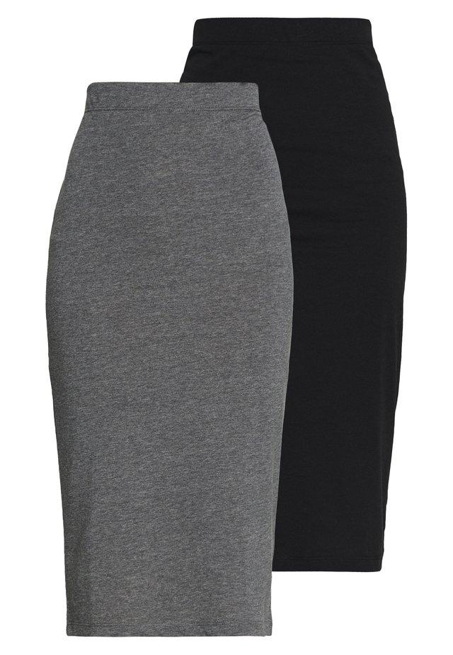 NMANJA SKIRT 2 PACK - Pencil skirt - black