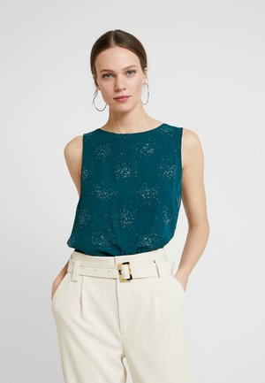 CLUSTER SPARKLE DOUBLE LAYER - Blouse - forest