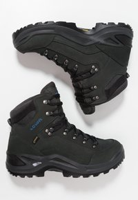 Lowa - RENEGADE GTX MID - Hiking shoes - anthrazit/stahlblau - 1