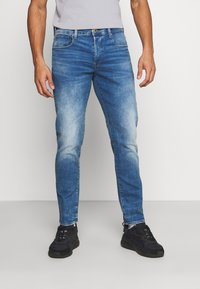 G-Star - 3301 STRAIGHT TAPERED - Straight leg jeans - authentic faded blue - 0