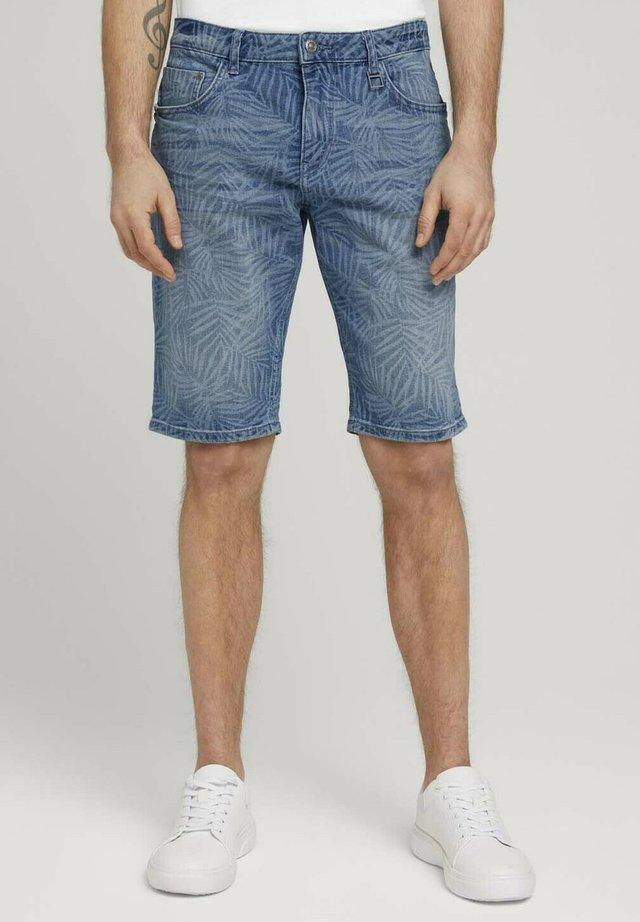 Shorts di jeans - light blue laser leave denim