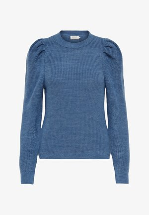 Strickpullover - faded denim