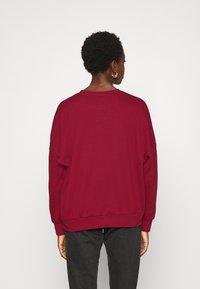 Even&Odd - OVERSIZED CREW NECK SWEATSHIRT - Sweatshirt - red - 2