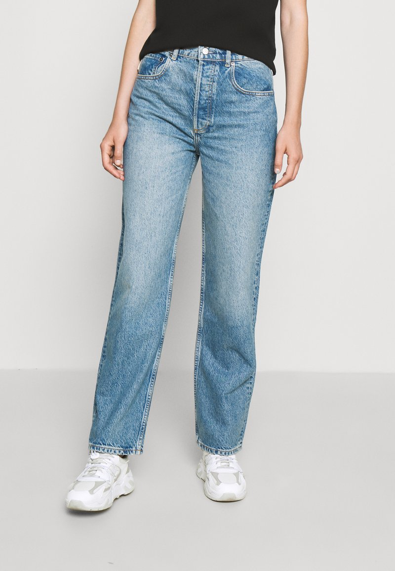 Boyish - THE ZIGGY HIGH RISE - Relaxed fit jeans - dark blue