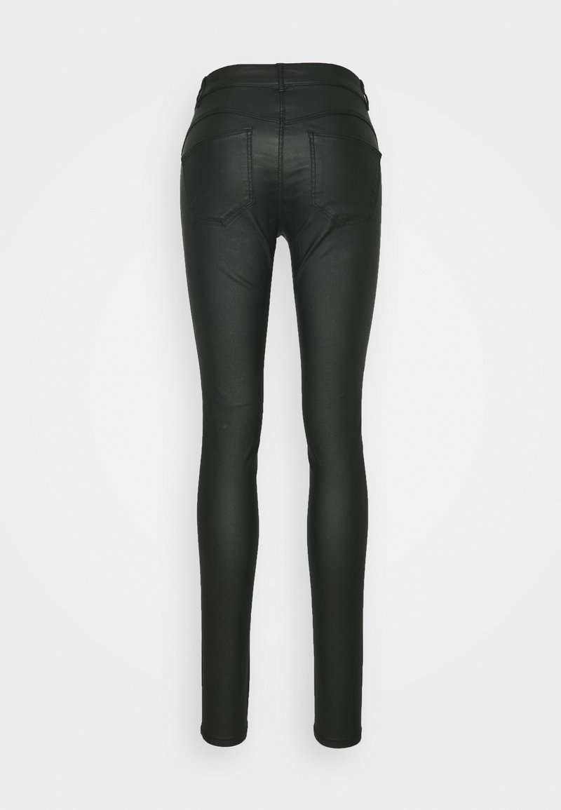 PIECES Tall PCSHAPE UP PARO COATED - Jeans Skinny Fit - black/schwarz 46Bovq