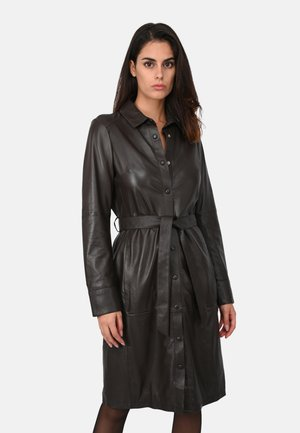 INDIANA - Shirt dress - dark brown