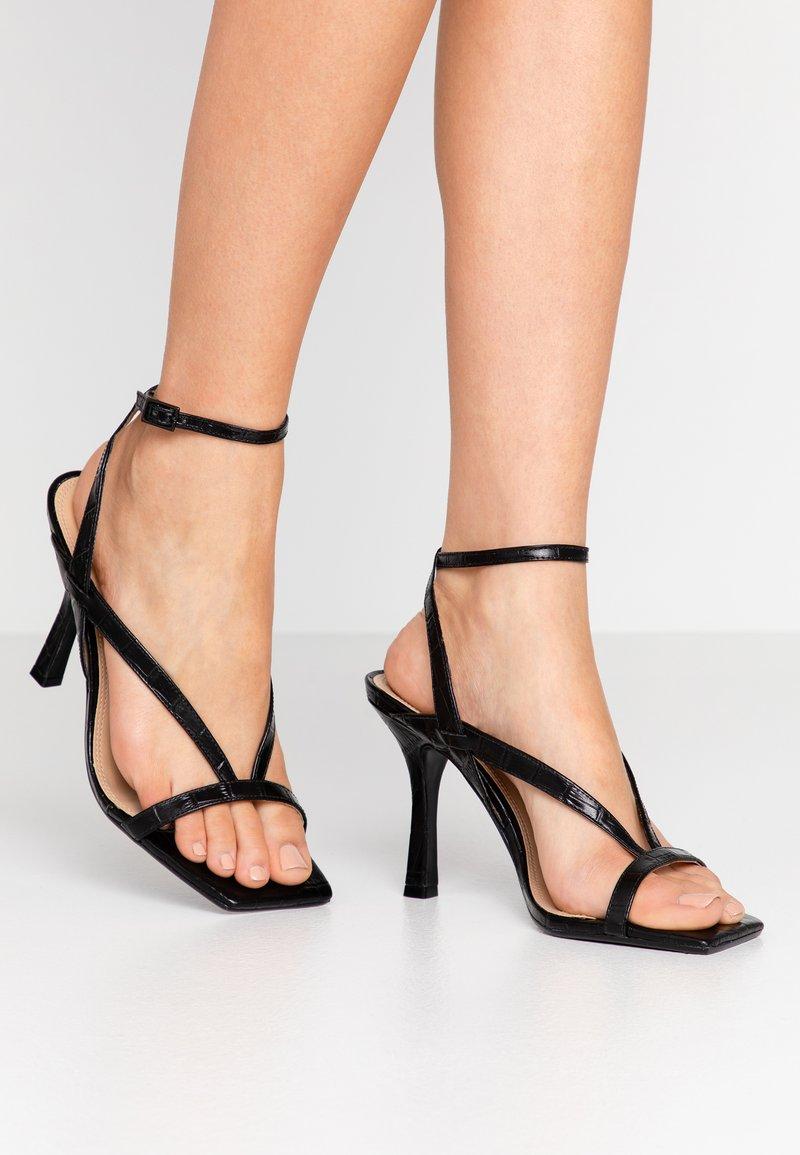 Dune London - MONTEREY  - Sandály na vysokém podpatku - black