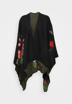 PONCHO TAPESTRY REVERSIBLE - Cape - black