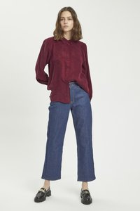 My Essential Wardrobe - Button-down blouse - oxblood red - 1