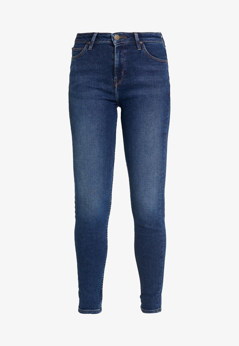 Lee SCARLETT HIGH - Jeans Skinny Fit - blue havana/blue denim cdBn3N