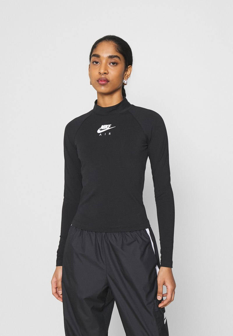 Nike Sportswear - Long sleeved top - black/white