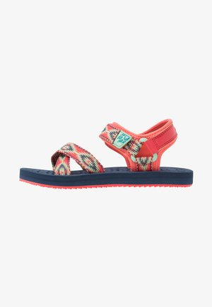ZULU - Walking sandals - red/blue