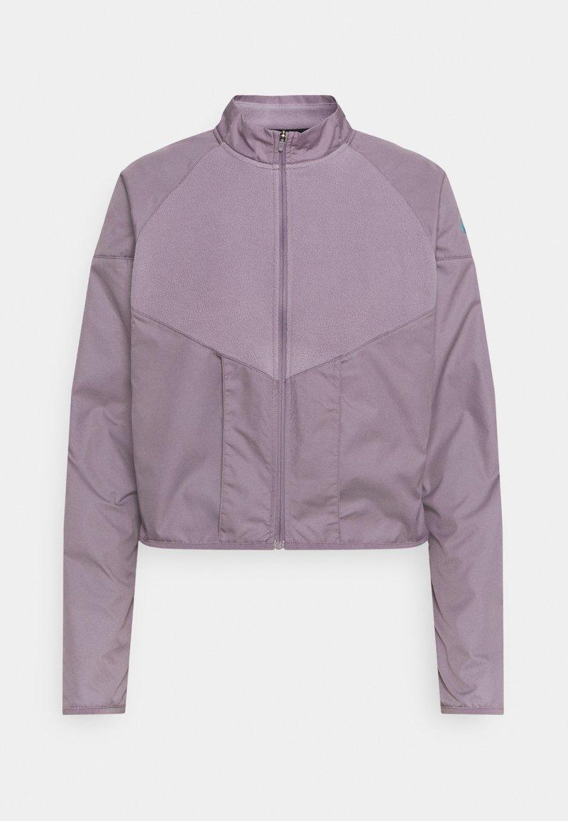 Nike Performance - RUN MID - Fleecová bunda - purple smoke