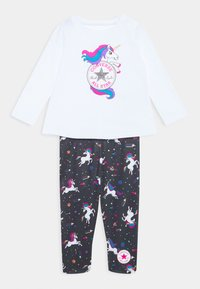 Converse - LENGTH TEE LEGG SET - Leggings - Trousers - white - 0