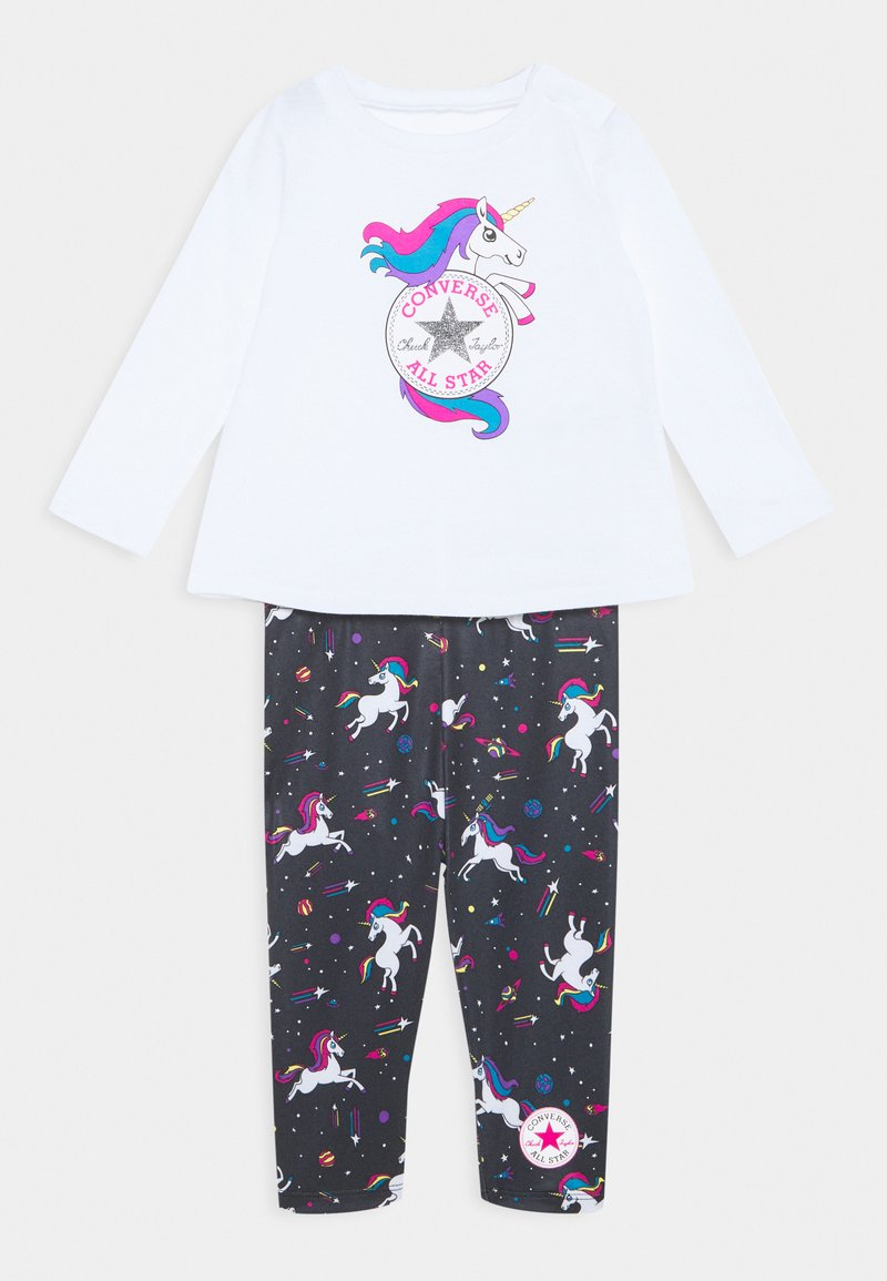 Converse - LENGTH TEE LEGG SET - Leggings - Trousers - white
