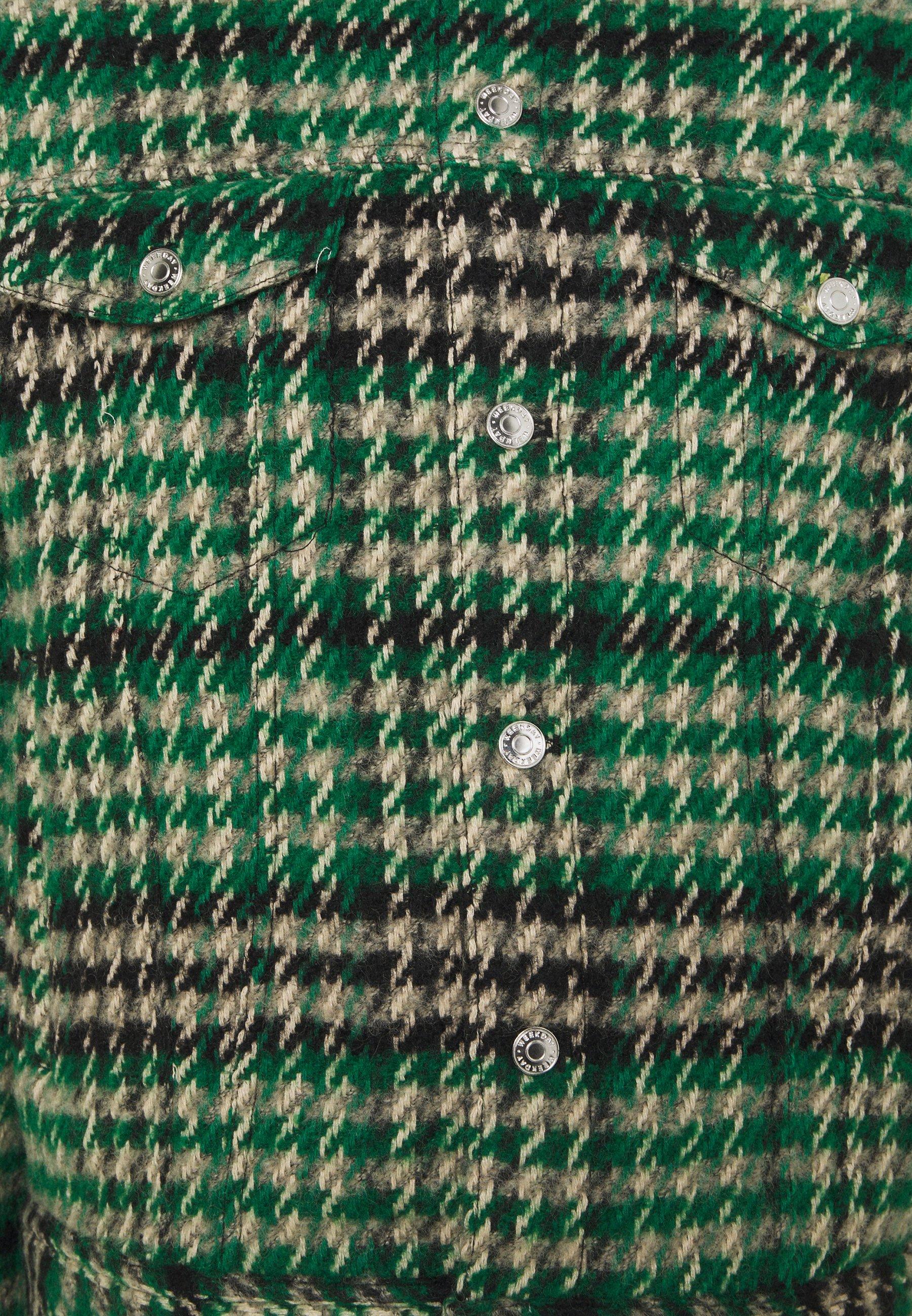 MILTON CHECKED JACKET Tunn jacka green