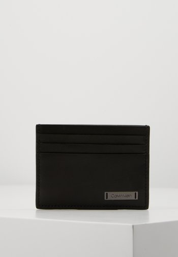 SMOOTH PLAQUE CARDHOLDER - Wallet - black