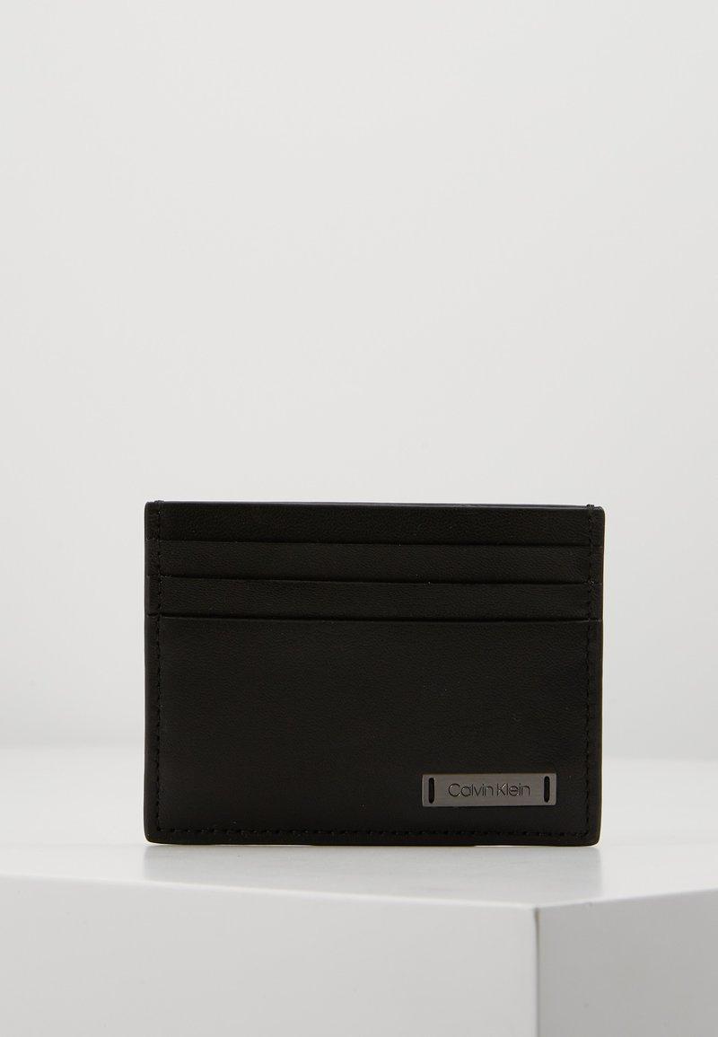 Calvin Klein - SMOOTH PLAQUE CARDHOLDER - Wallet - black