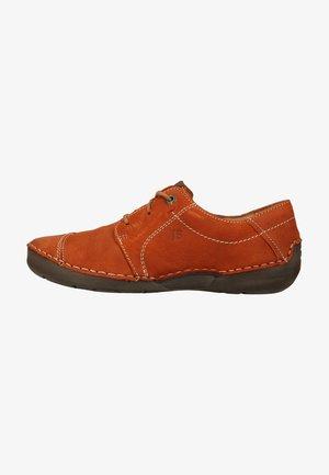 Chaussures à lacets - orange