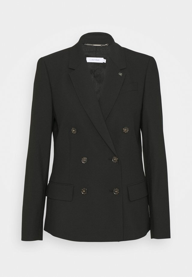 DOUBLE BREASTED - Blazer - black