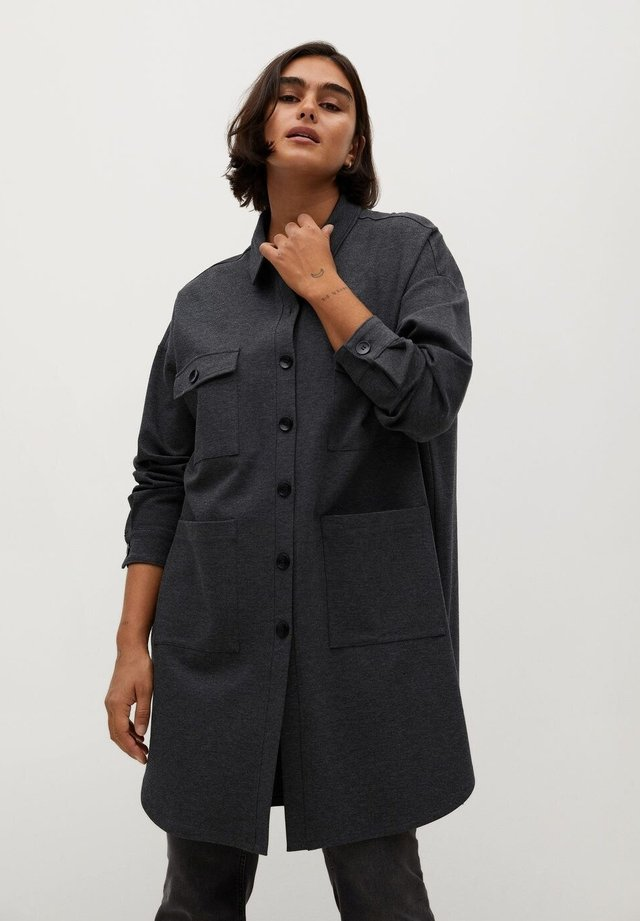 ROBER - Overhemdblouse - mittelgrau meliert