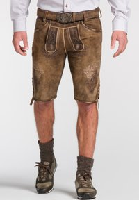 Spieth & Wensky - Leather trousers - brown - 0