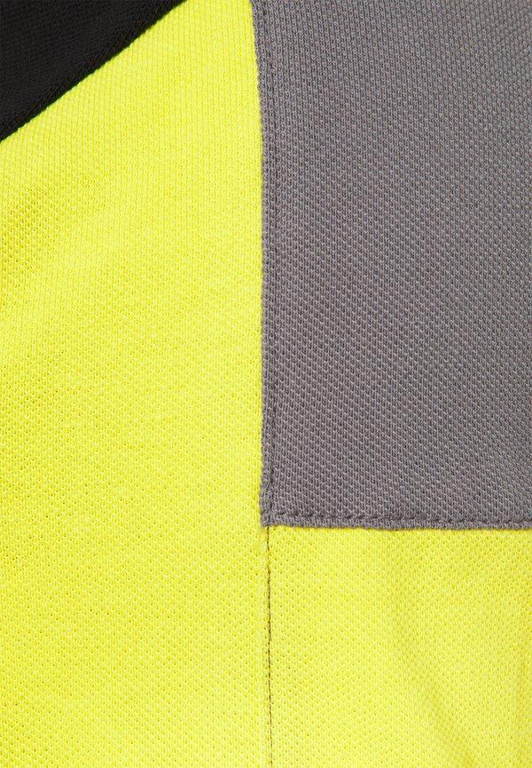 Hackett Aston Martin Racing BLOCK PANEL - Koszulka polo - black/grey/czarny Odzież Męska WHHK