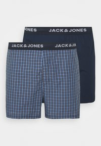Jack & Jones - JACBLUEISH CHECK TRUNKS 2 PACK - Boxer shorts - dress blues/dress blue - 3