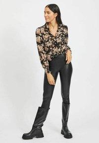 Vila - Button-down blouse - black - 1