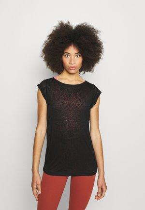 ONPABO BURNOUT TEE - Print T-shirt - black