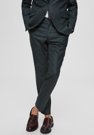 SLIM FIT - Pantaloni eleganti - dark green