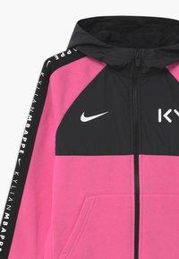 Nike Performance - KYLIAN MBAPPE HYBRID HOODIE - Zip-up hoodie - pinksicle/black/white - 2