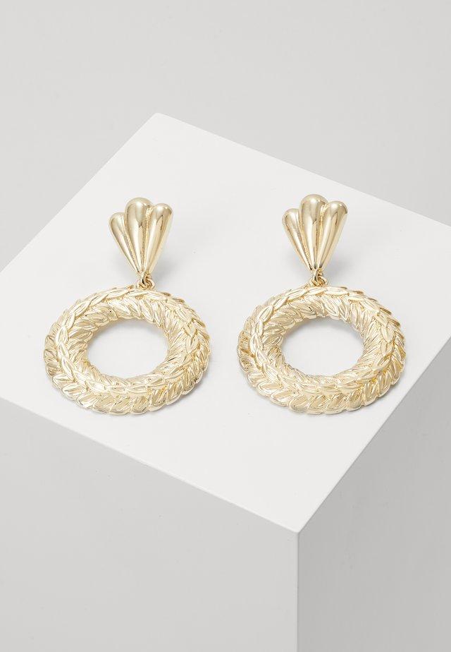 ENGRAVED DISC DROP - Boucles d'oreilles - gold-coloured