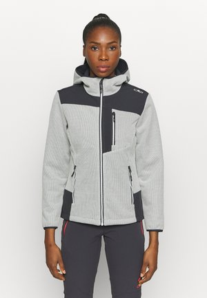 WOMAN JACKET FIX HOOD - Light jacket - gesso
