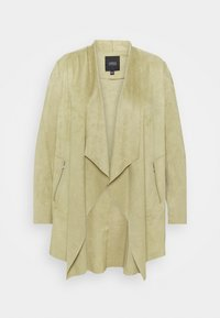 CAPSULE by Simply Be - WATERFALL JACKET WITH PANEL SLEEVES - Short coat - olive - 0