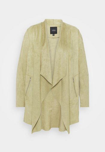 WATERFALL JACKET WITH PANEL SLEEVES - Short coat - olive