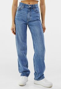 Bershka - Straight leg jeans - dark blue - 0