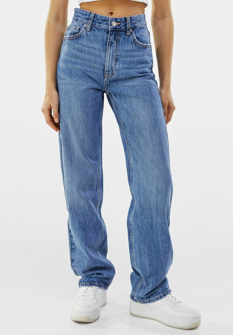 Bershka - Straight leg jeans - dark blue