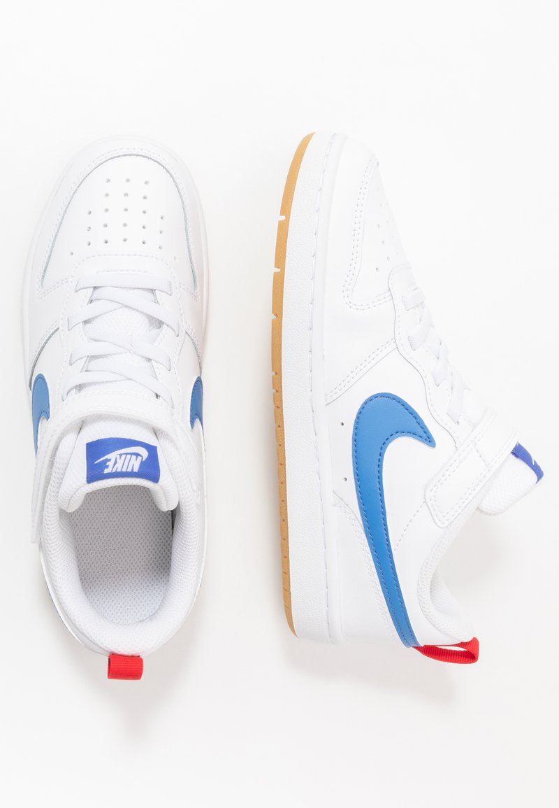 Nike Sportswear - COURT BOROUGH 2 UNISEX - Sneaker low - white/pacific blue/university red/light brown