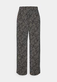 ONLY - ONLTAMMIE PLISSE PANT - Bukser - black/white - 0